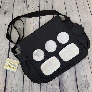 💎 PRETTY BABY   black photo diaper bag